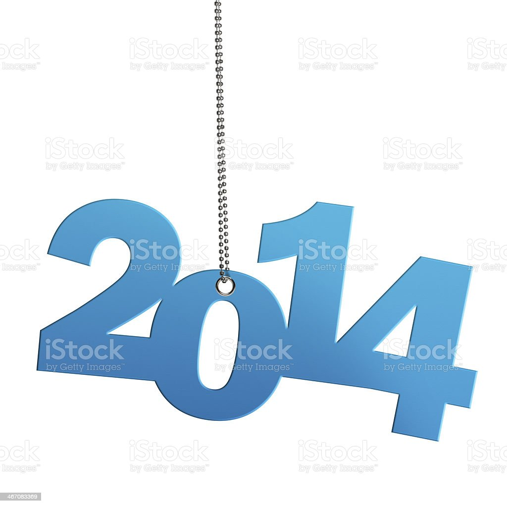 Hanging Turquoise 2014 (Clipping Path) stock photo