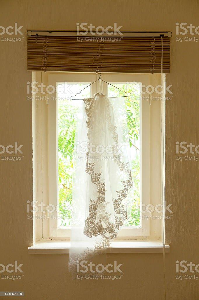 hanging veil royalty-free stock photo