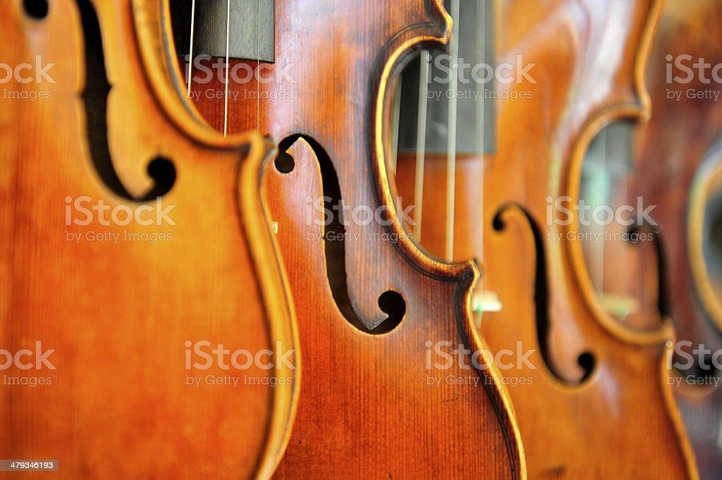 매달기 Violins royalty-free 스톡 사진