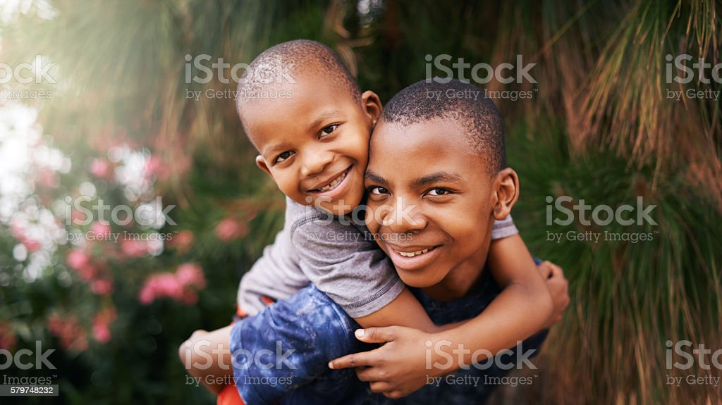 Hanging with my bro stock photo