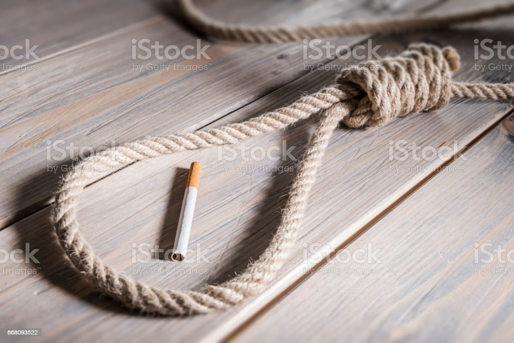 Hangman rope stock photo