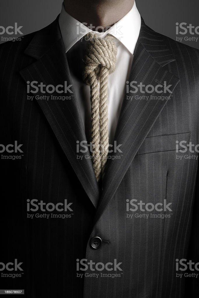 Hangmans Noose As Necktie stock photo
