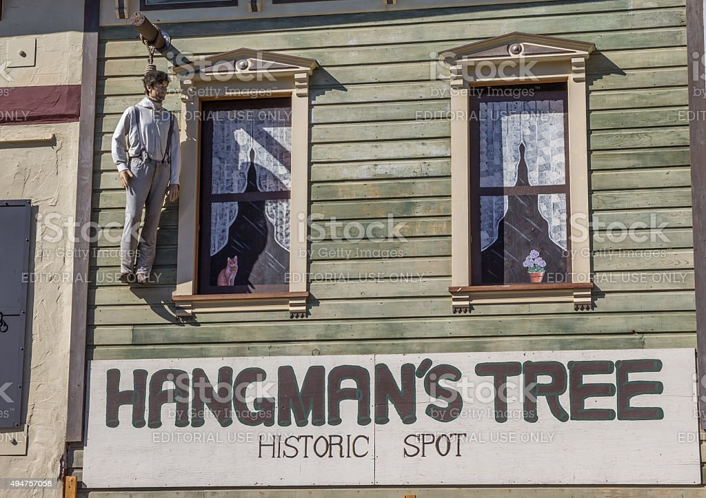 Hangmans tree historic spot in Placerville stock photo