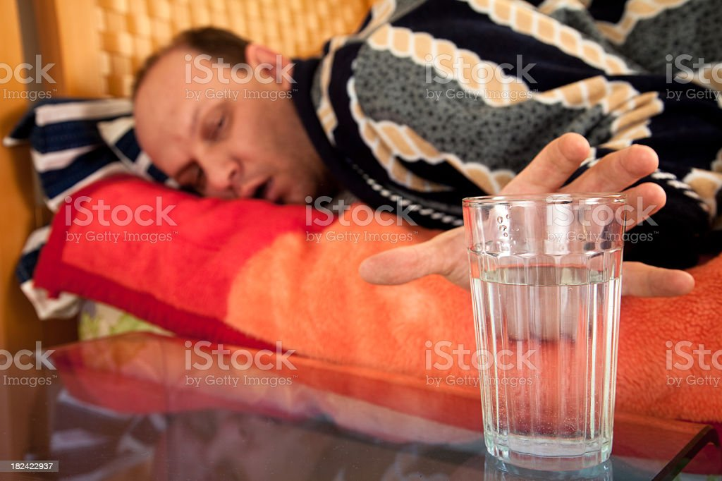 Hangover stock photo
