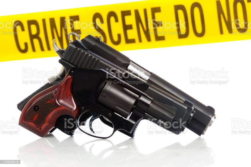 Hangun Crime Scene royalty-free stock photo