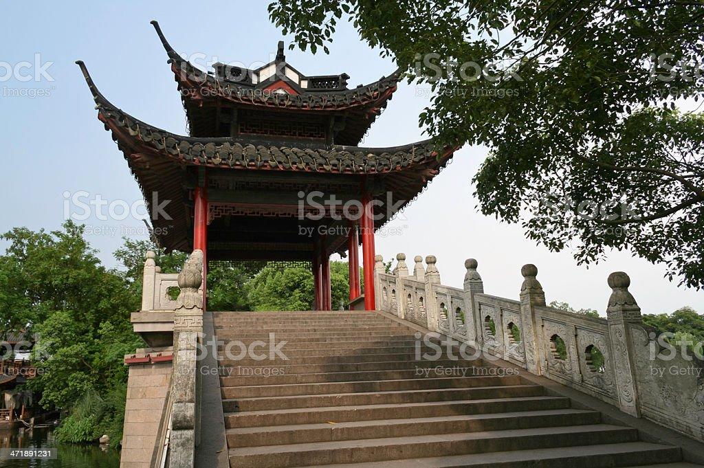Hangzhou Bridge Pavilion stock photo