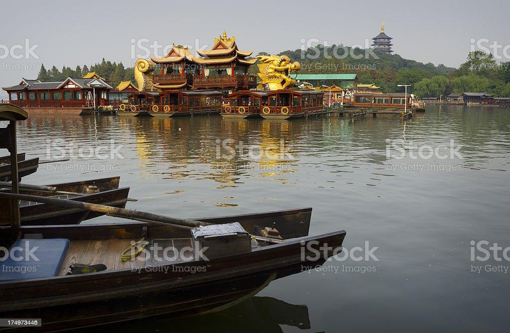 Hangzhou China Dragon Ship Pagoda royalty-free stock photo