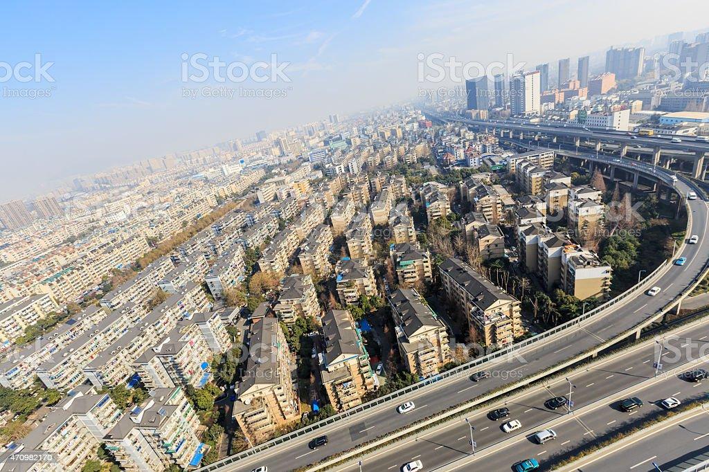 Hangzhou urban residential areas scenery stock photo