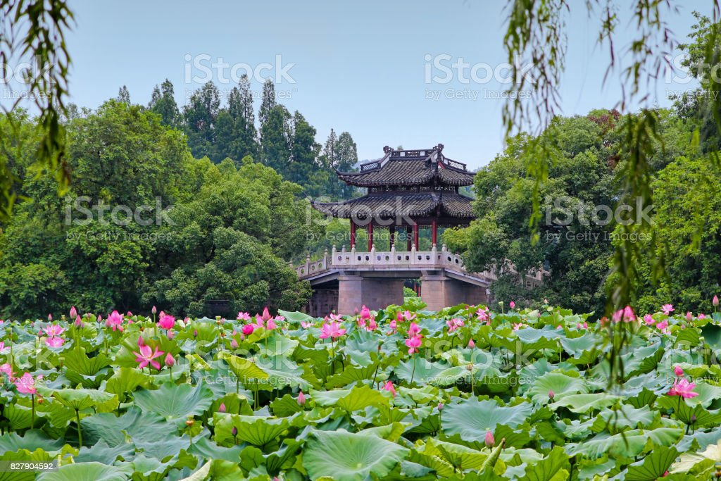 Hangzhou West Lake scenery stock photo