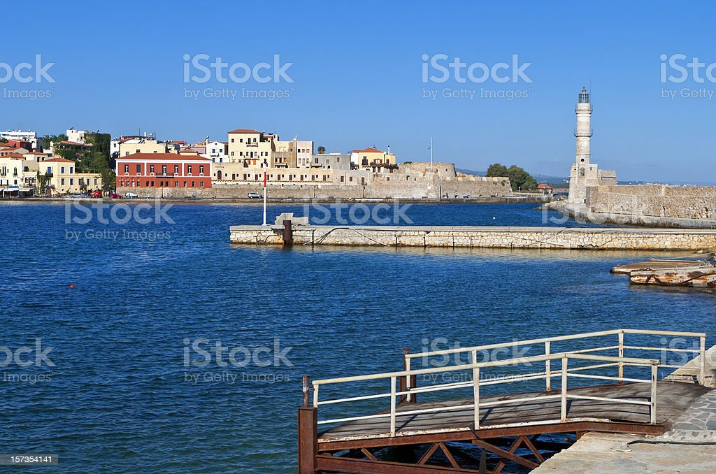 Hania city at Crete island in Greece royalty-free stock photo
