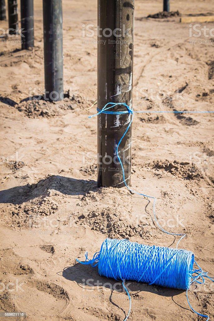 Hank of rope construction stock photo
