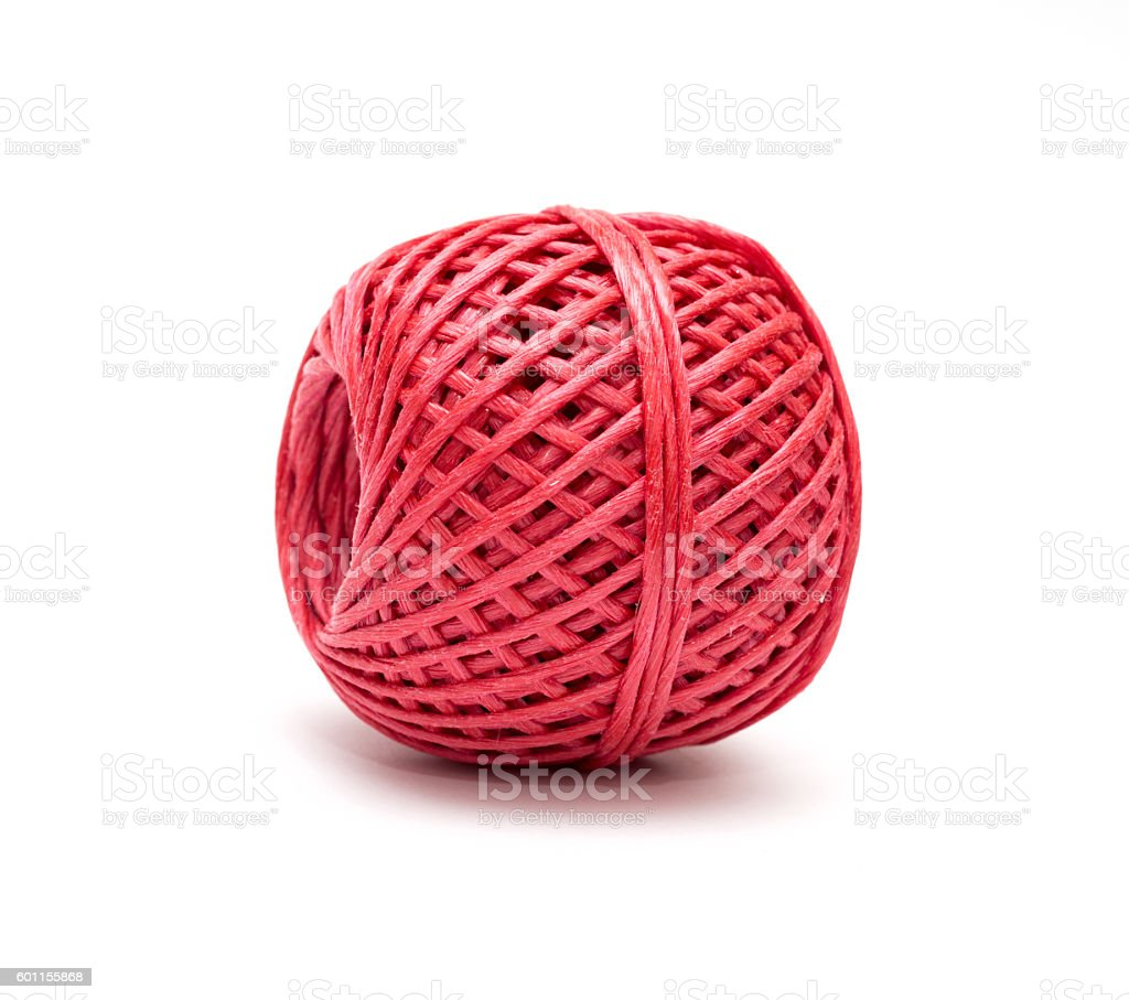 hank of rope on a white background stock photo
