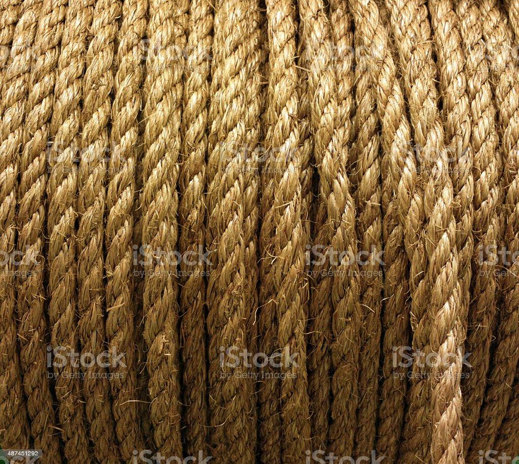 Hank of rope. stock photo