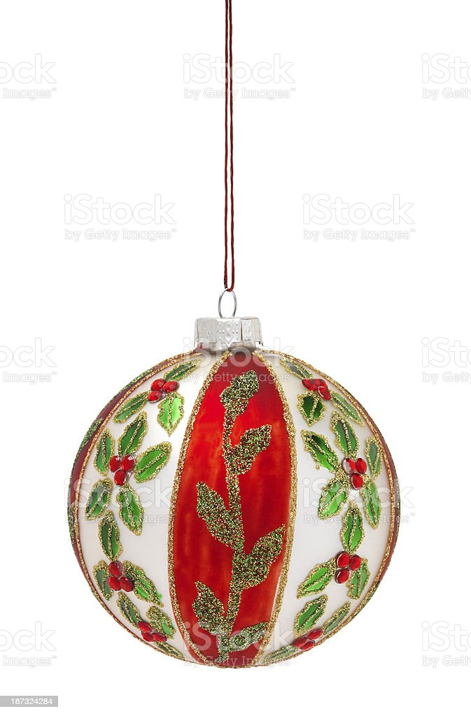 Hank Painted Christmas Bauble royalty-free stock photo