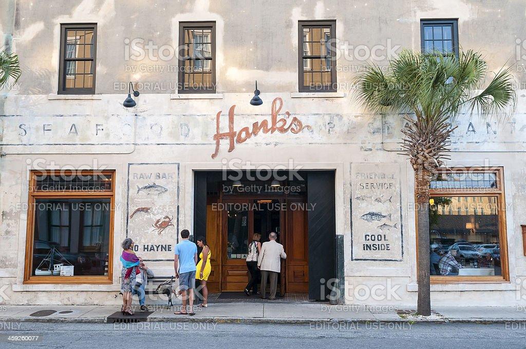 Hank's Seafood Restaurant in Charleston SC royalty-free stock photo