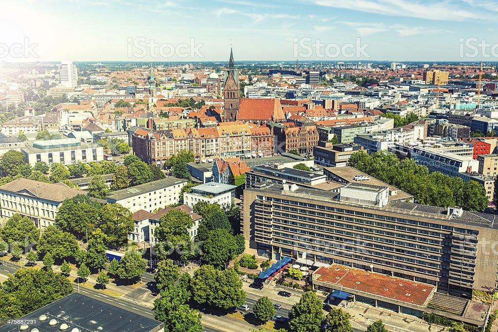 Hannover Skyline stock photo
