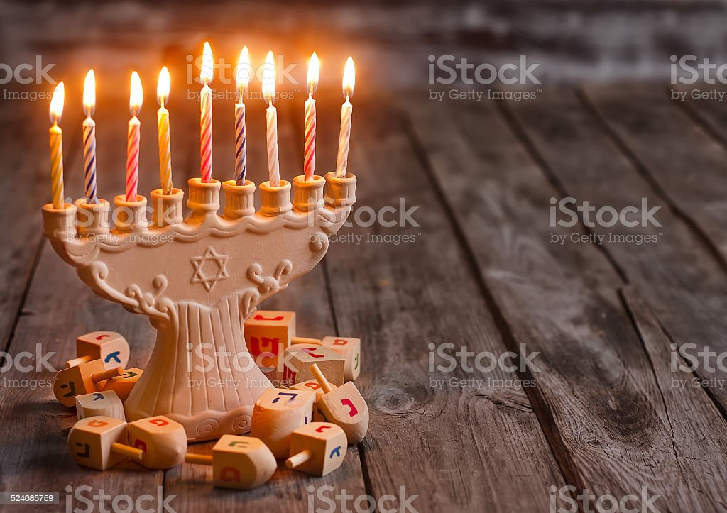 Hannukah background stock photo