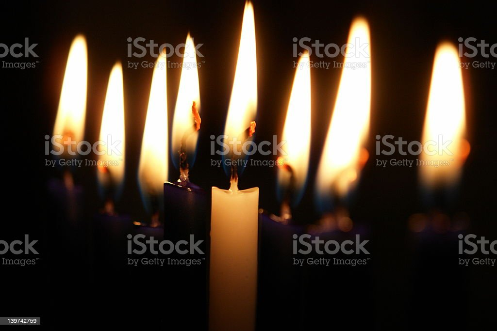 Hannukah Candles stock photo