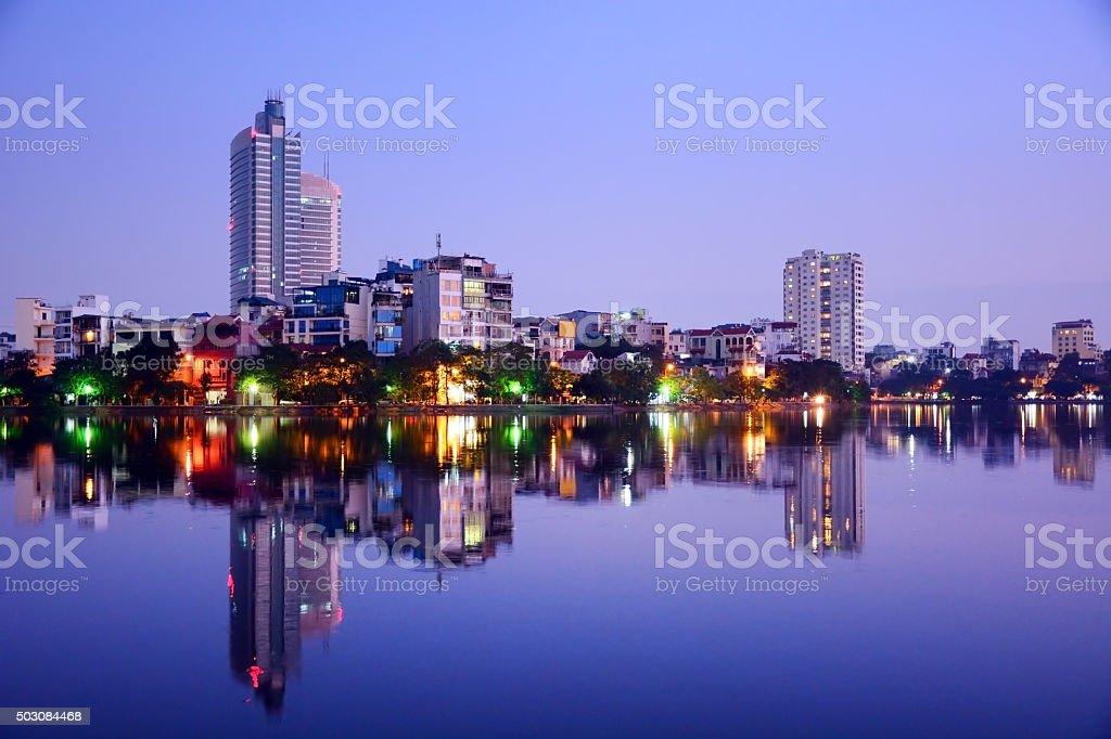 Hanoi cityscape stock photo