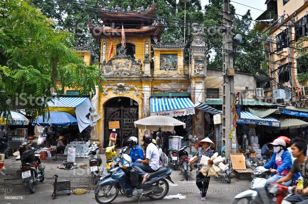 Hanoi Downtown stock photo