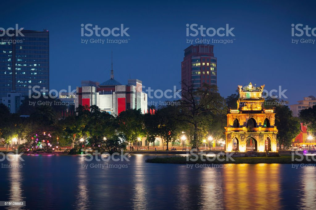 Hanoi skyline stock photo