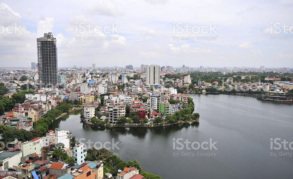 Hanoi Vietnam Cityscape stock photo