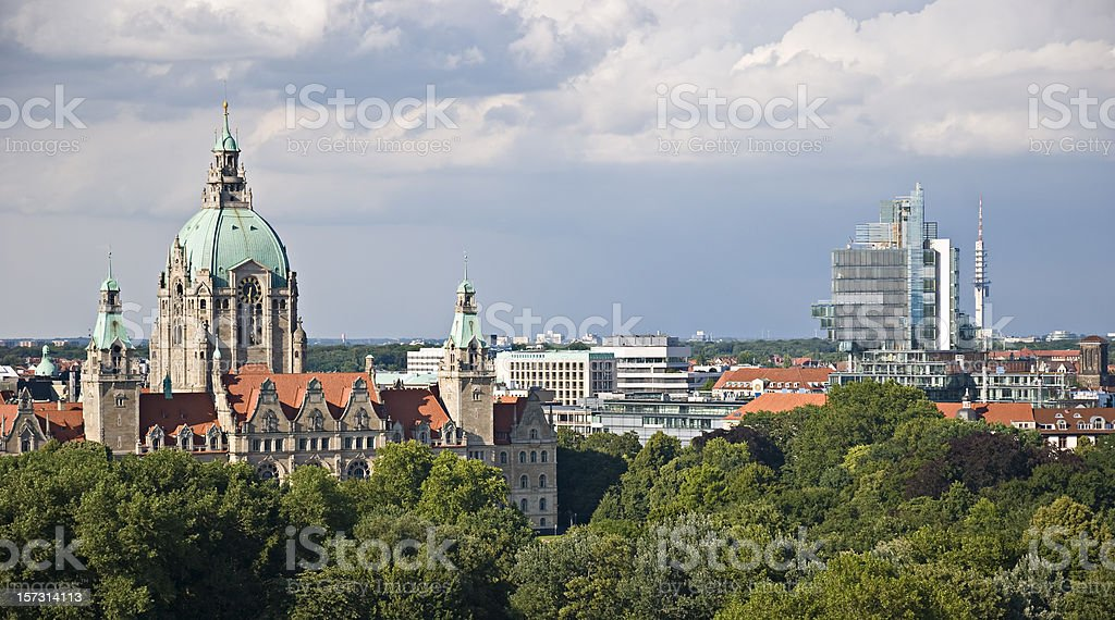 Hannover Skyline royalty-free stock photo