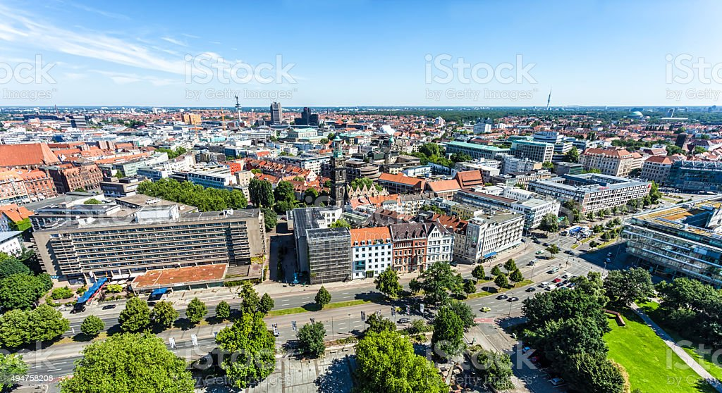 Hannover Skyline stock photo