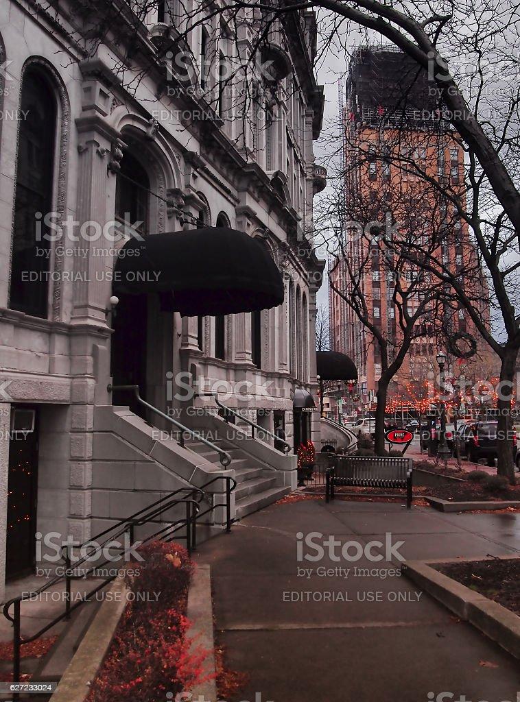 hanover square sidewalk stock photo