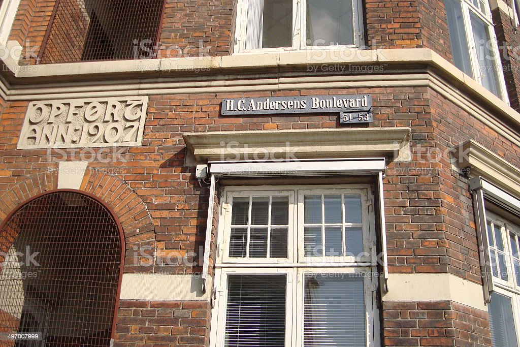 Hans Christian Andersen boulevard Copenhagen royalty-free stock photo
