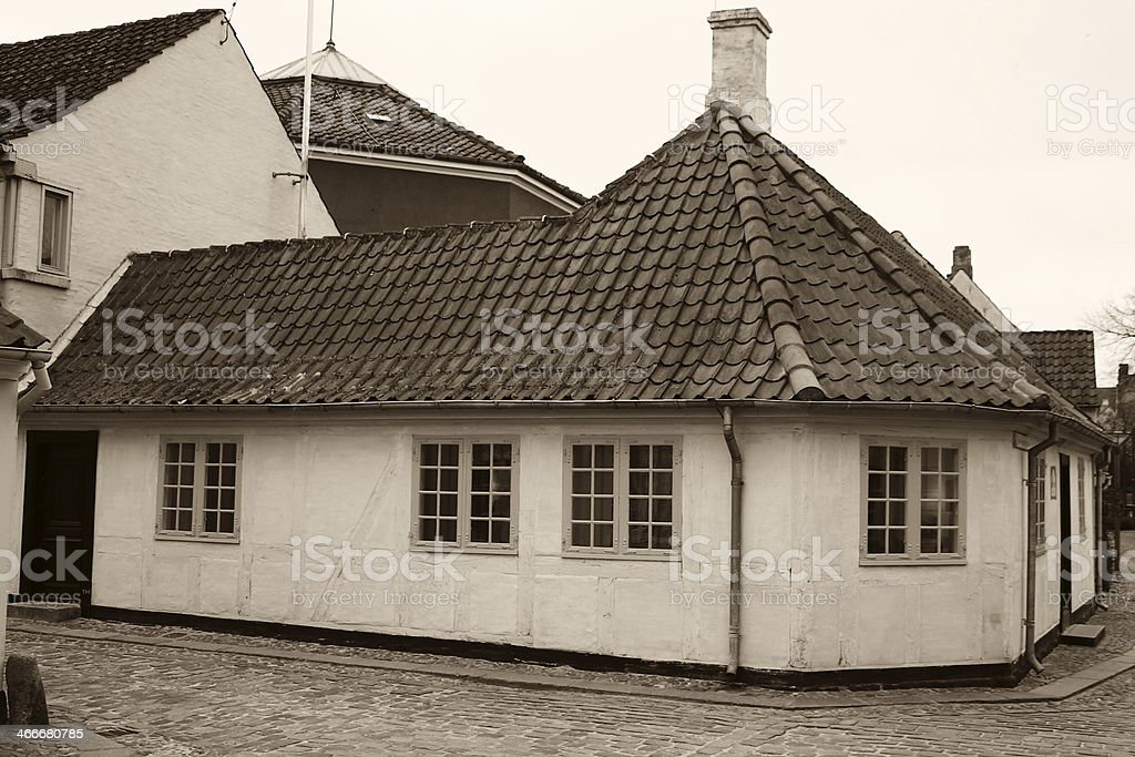 Hans Christian Andersen House Odense royalty-free stock photo