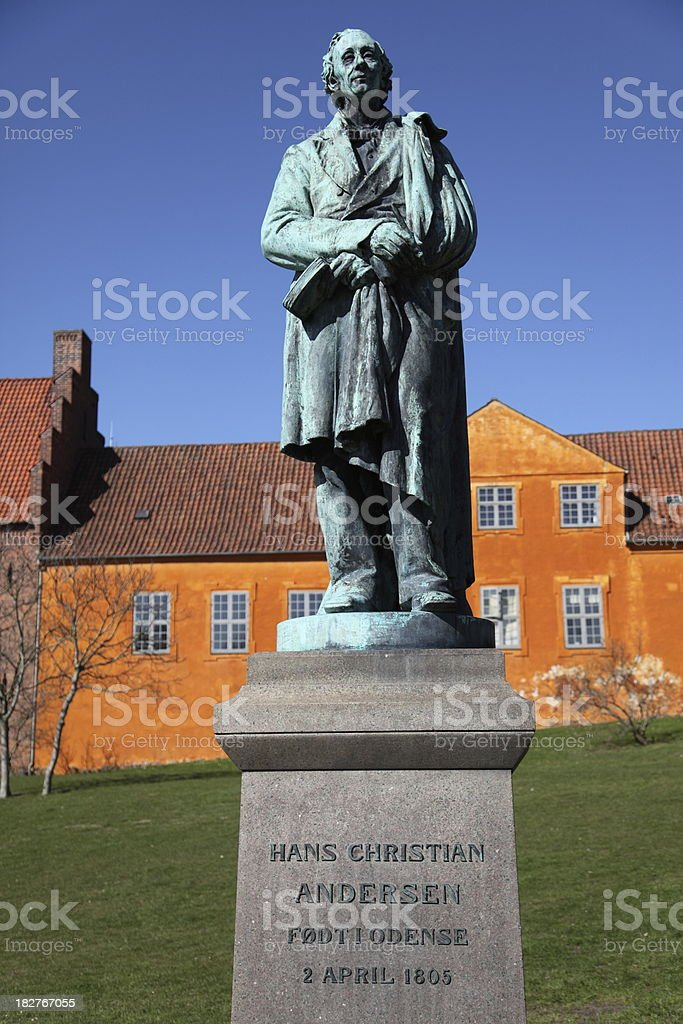 Hans Christian Andersen in his home town Odense stock photo