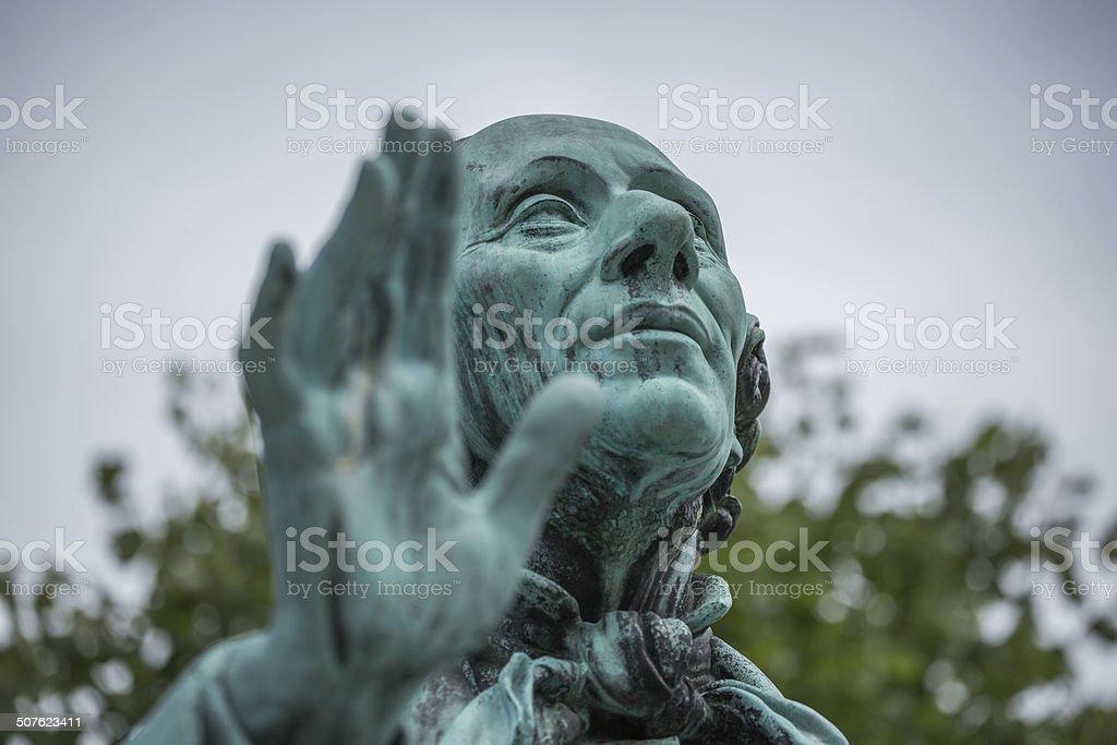 Hans Christian Andersen in Kings Garden, Copenhagen stock photo