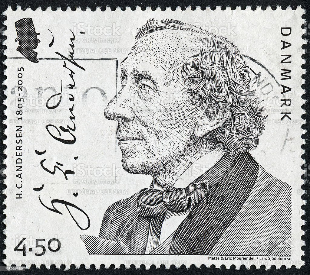 Hans Christian Andersen Stamp stock photo