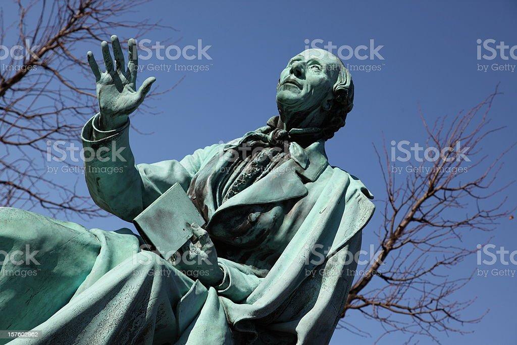 Hans Christian Andersen world famous poet in Copenhagen stock photo