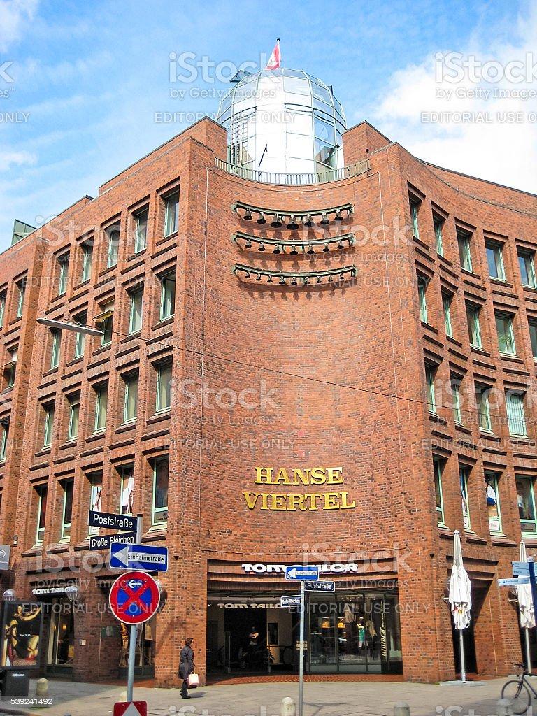 Hansaviertel Hamburg stock photo