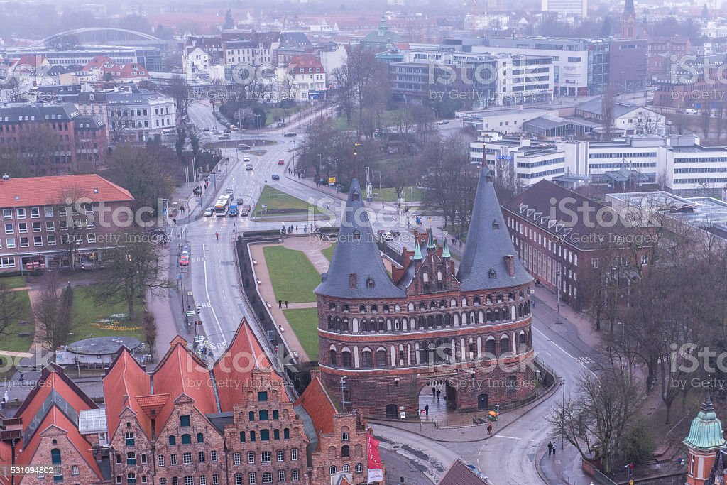 Hanseatic City of Luebeck, Holstentor stock photo