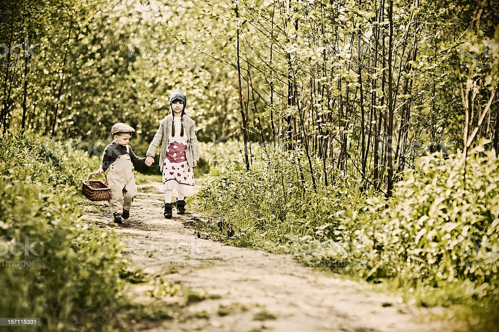 Hansel and Gretel royalty-free stock photo