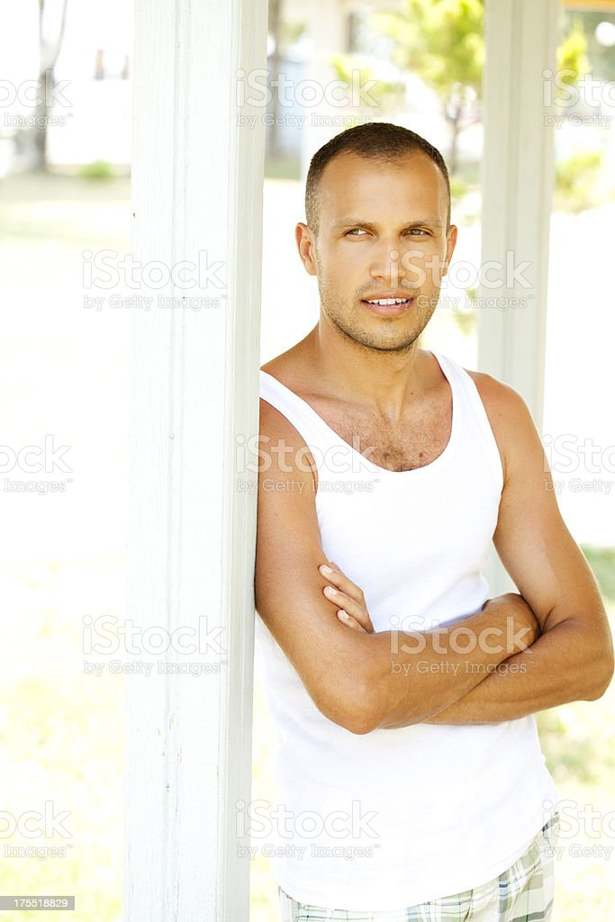 hansome man looking away royalty-free stock photo