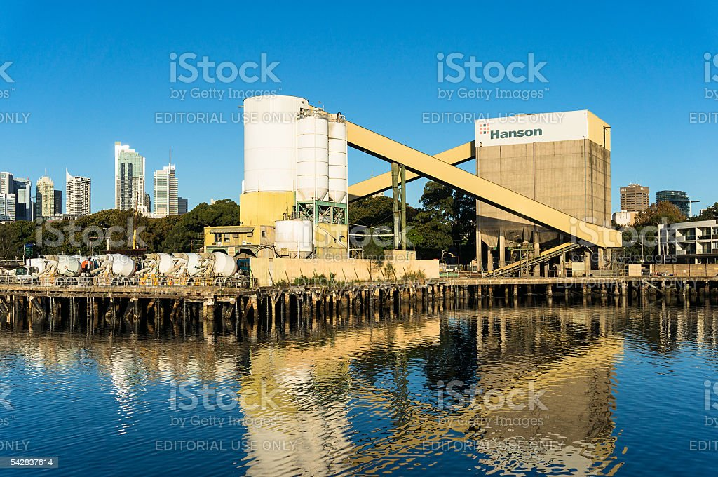 Hanson concrete plant stock photo