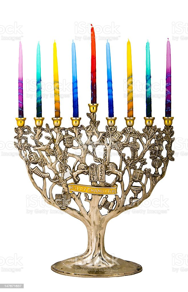 Hanukah menorah royalty-free stock photo