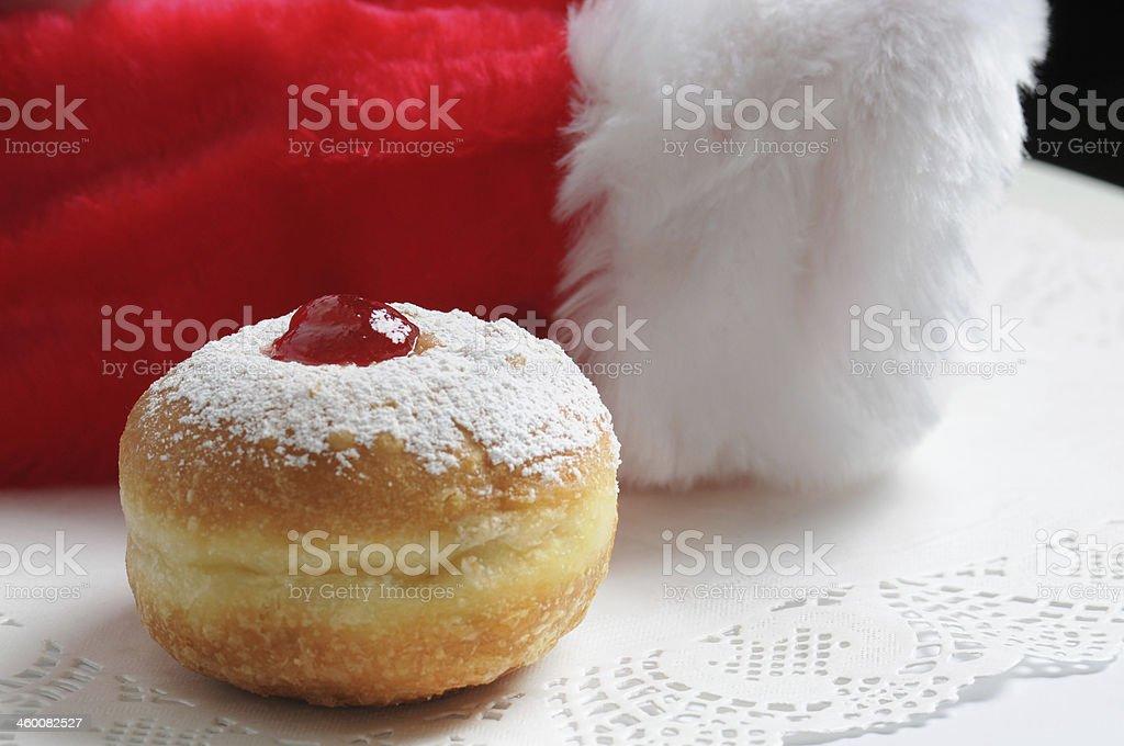 Hanukkah and Christmas stock photo