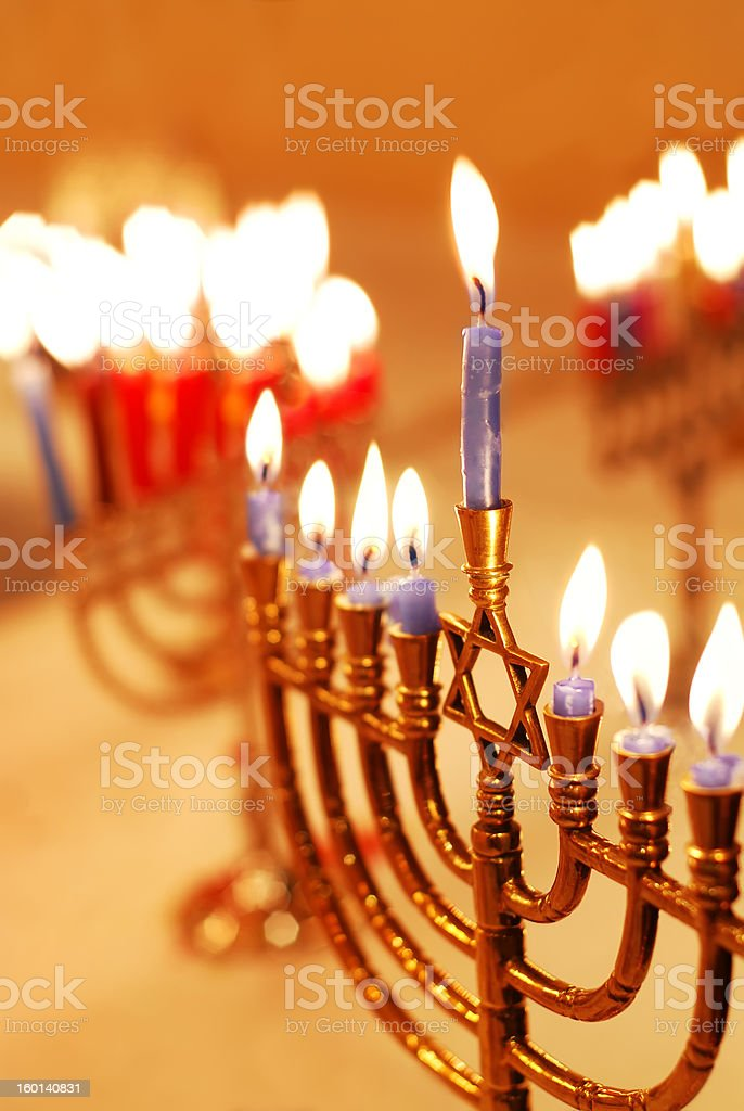 Hanukkah Candles stock photo