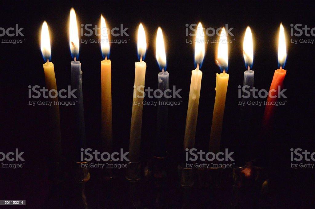 Hanukkah Candles royalty-free stock photo