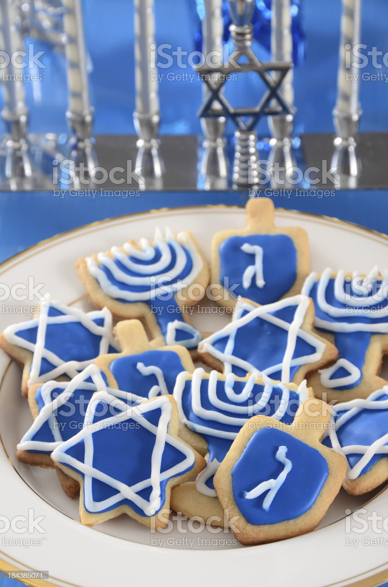 Hanukkah Cookies royalty-free stock photo