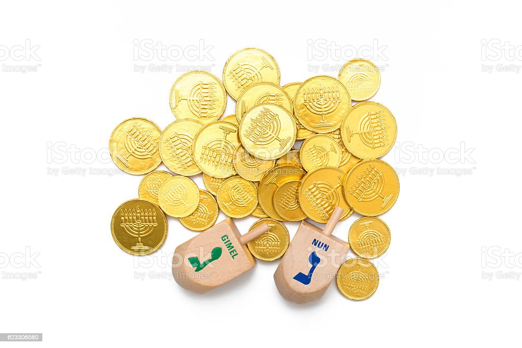 Hanukkah Dreidel stock photo