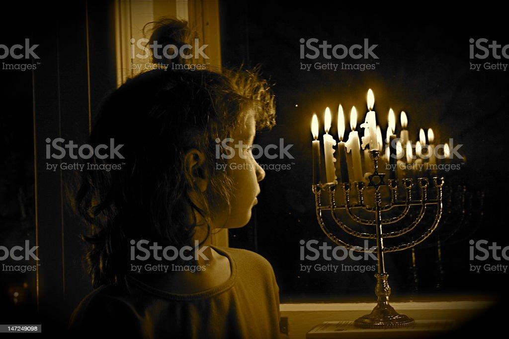 Hanukkah Lights stock photo