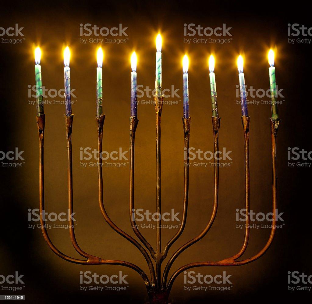 Hanukkah Menorah Candles royalty-free stock photo