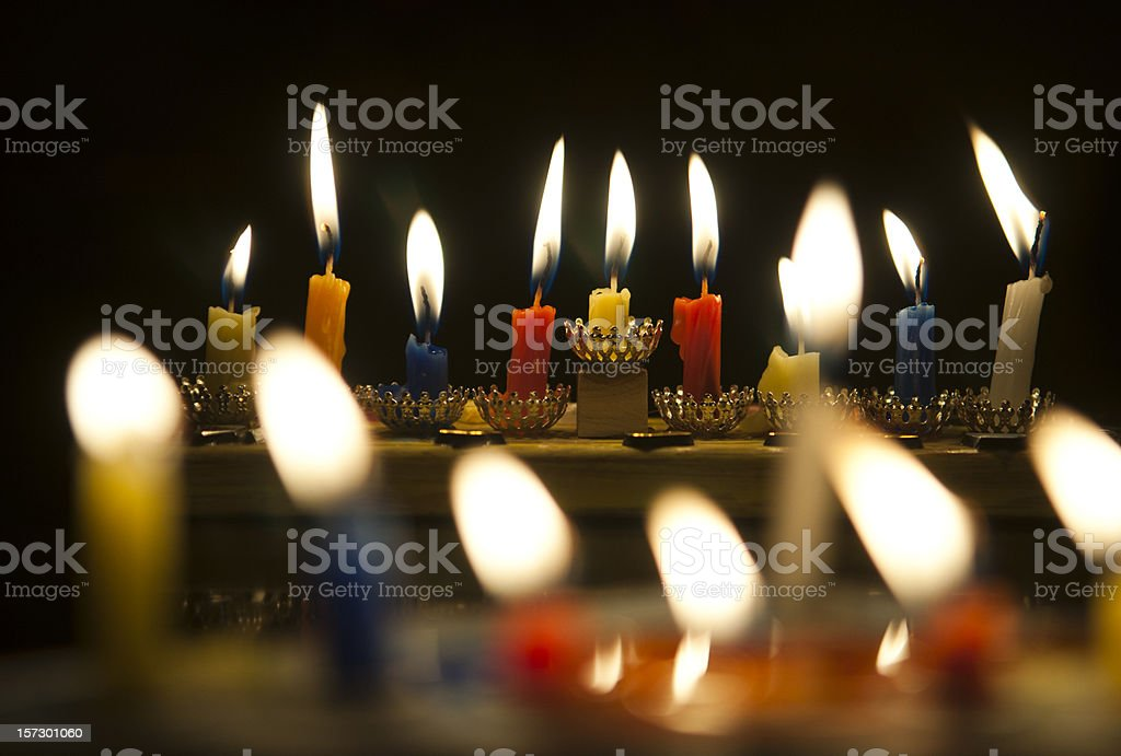 Hanukkah Menorah royalty-free stock photo