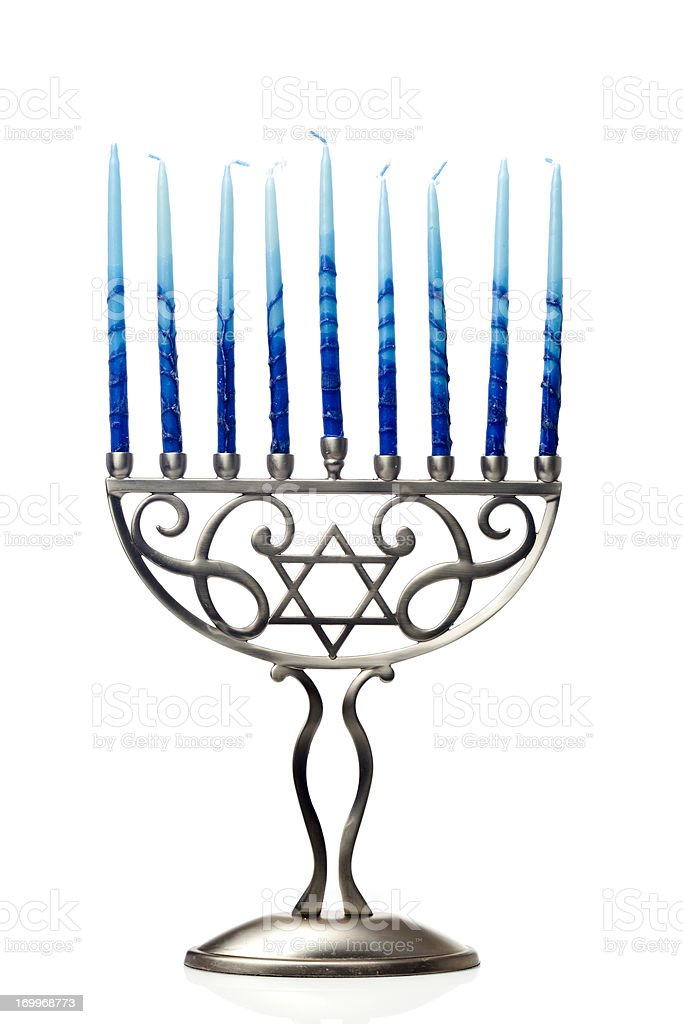 Hanukkah Menorah stock photo